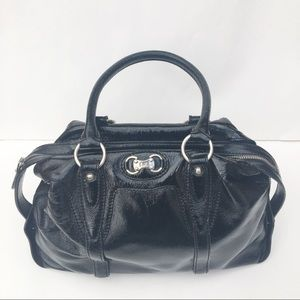 Michael Kors Patent Leather Black Handbag Satchel
